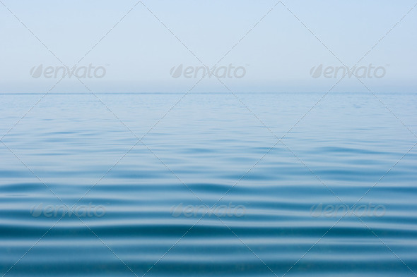 still calm sea water surface - Stock Photo - Images