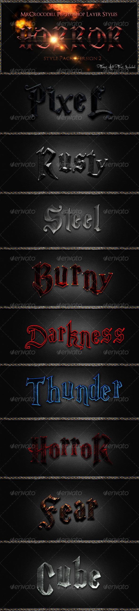GraphicRiver Horror Styles V2 3291284