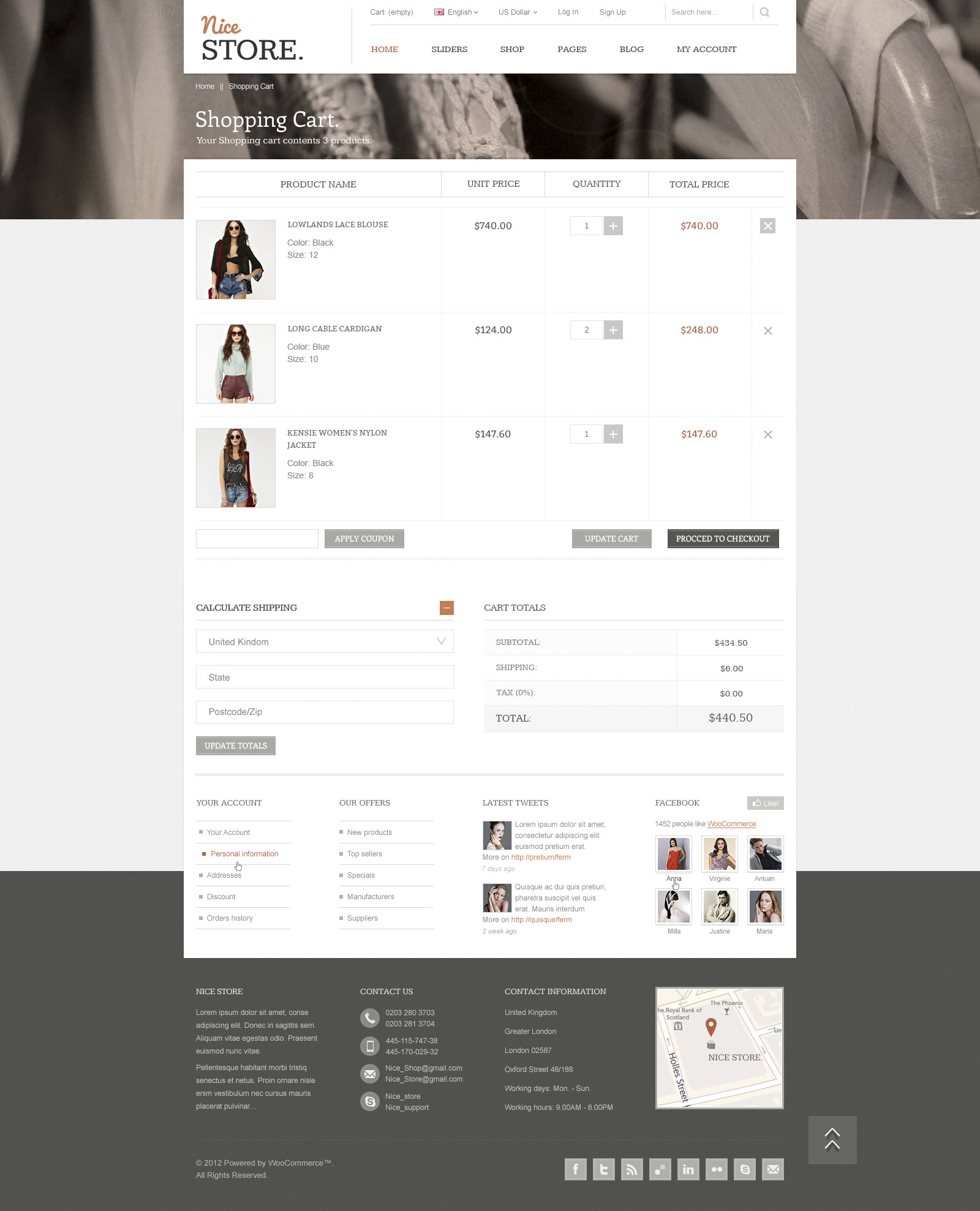 Nice Store - eCommerce PSD Template