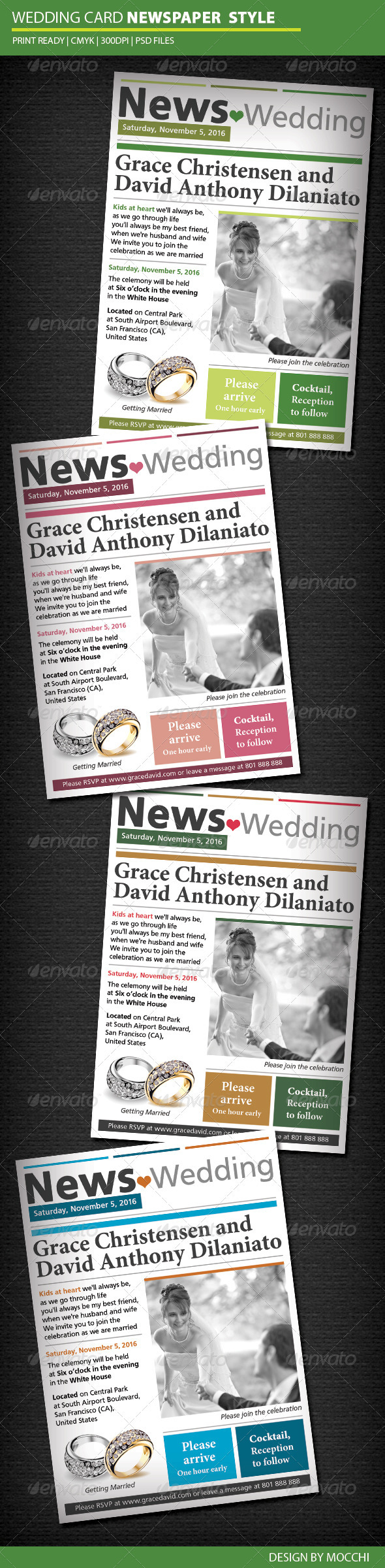 GraphicRiver Wedding Card Newspaper Style 3310041
