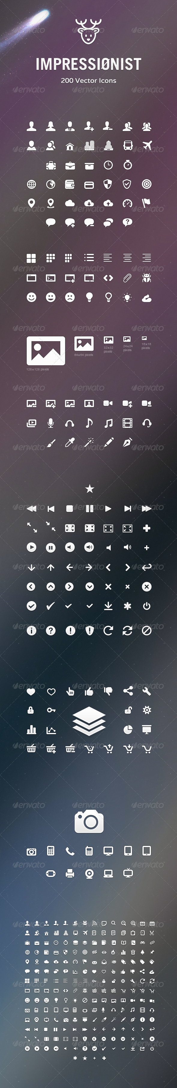 GraphicRiver Impressionist Icons Vector Icons Pack 3310094