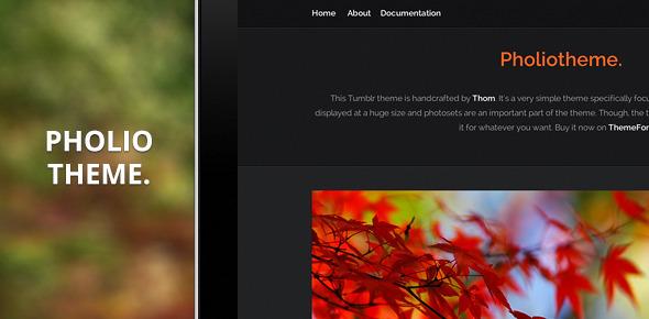ThemeForest Pholiotheme A Premium Theme for Tumblr 3310098