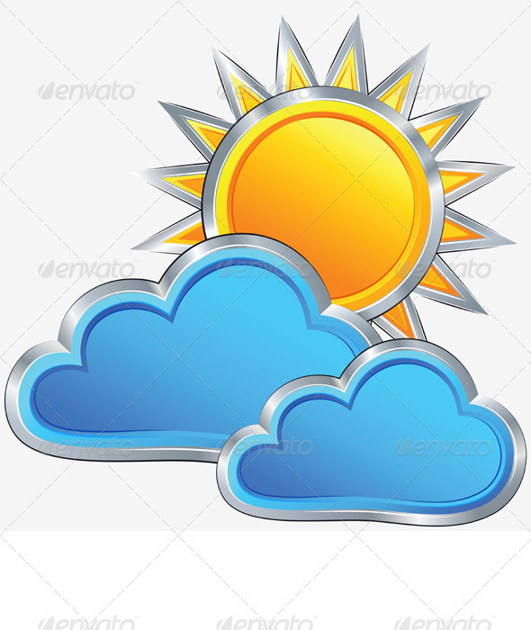 GraphicRiver Vector Weather Icon with a Sunny Weather 3310251