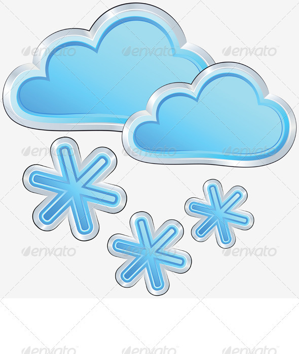 GraphicRiver Vector Weather Icon with a Snow Weather 3310264