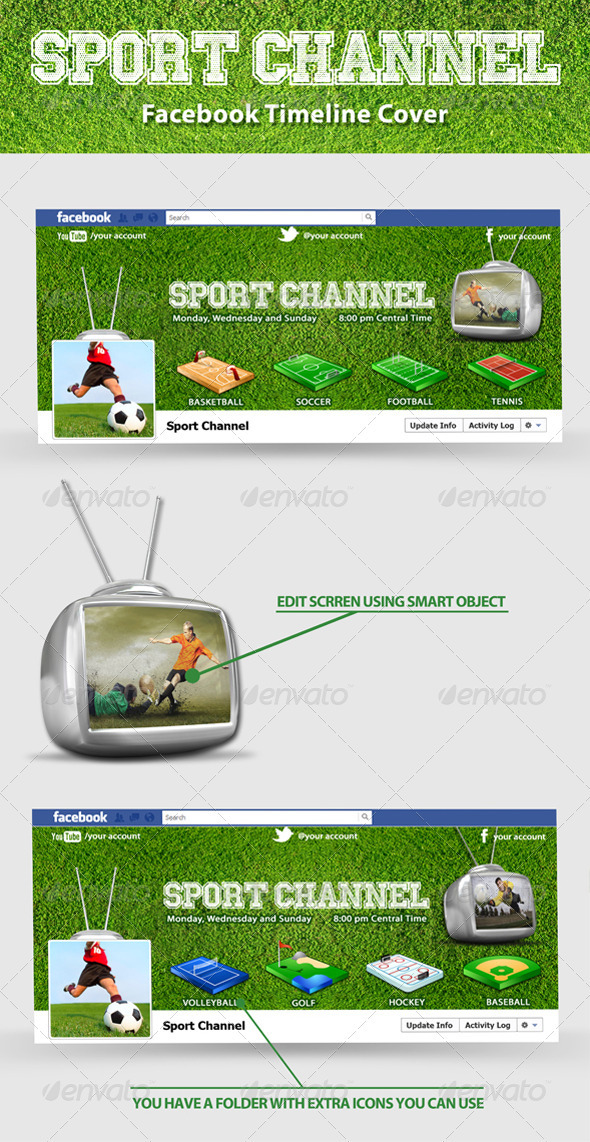 GraphicRiver Sport Channel FB Timeline 3240023