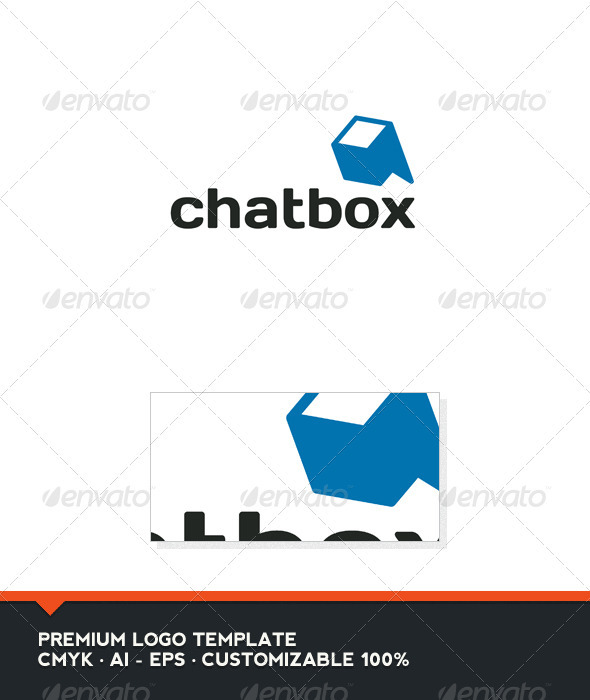 Chat Box Logo Template