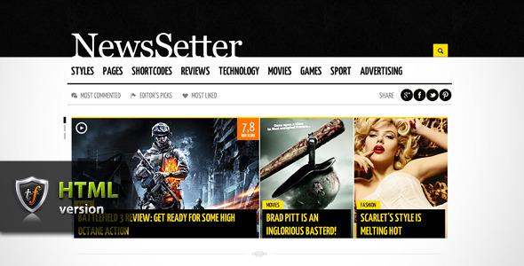ThemeForest NewsSetter News Technology & Reviews HTML Theme 3310311