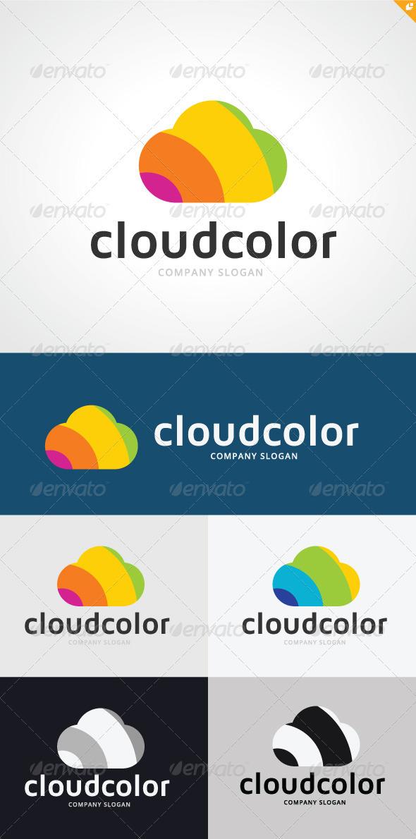 GraphicRiver Cloud Color Logo 3289267