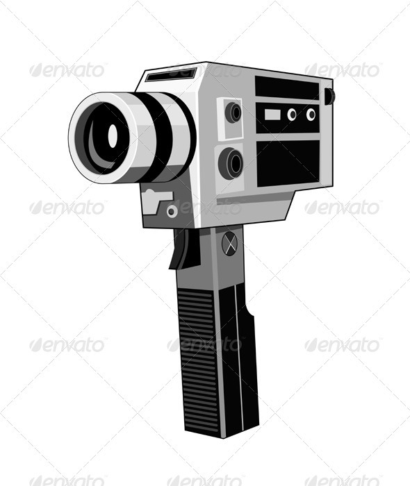 GraphicRiver Vintage Video Camera Retro 3310377