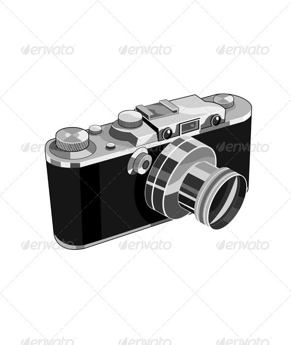 GraphicRiver Vintage SLR Camera Retro 3310380