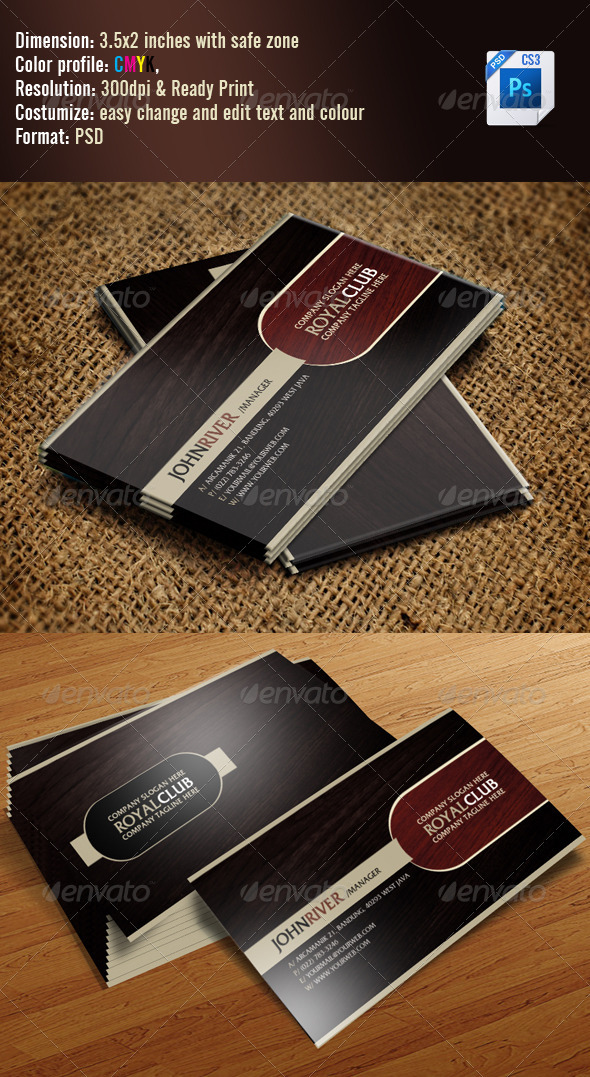 GraphicRiver Simple Classic Business Card 3286969