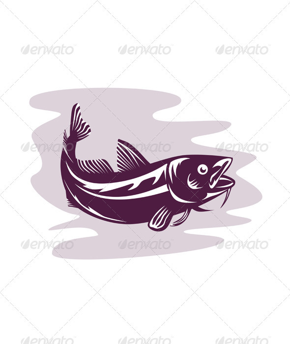 GraphicRiver Atlantic Codfish Retro 3310382