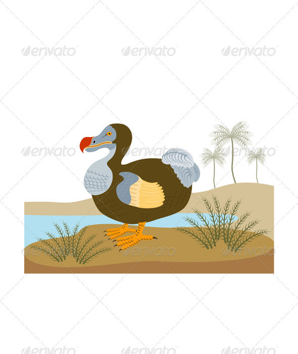 GraphicRiver Dodo Bird Raphus Cucullatus Retro 3310387