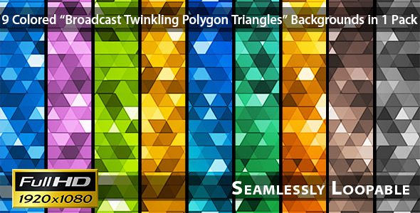 VideoHive Broadcast Twinkling Polygon Triangles Pack 01 3310456