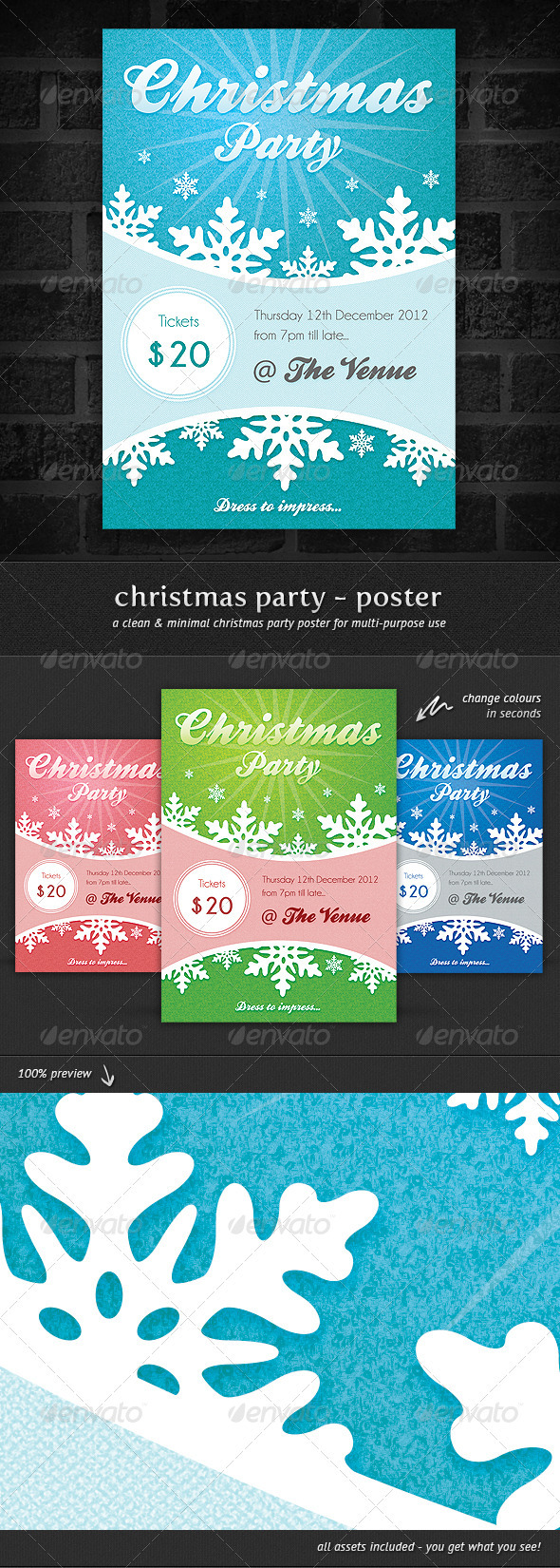 GraphicRiver Christmas Party Event Poster 3310475