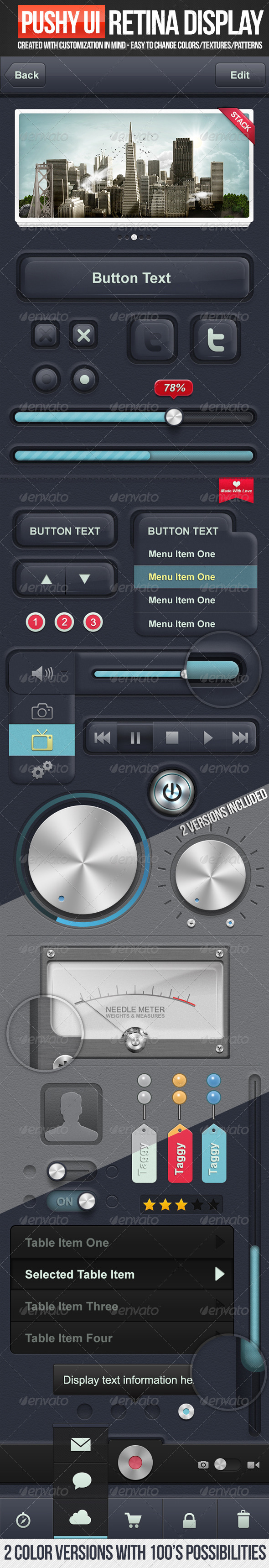 GraphicRiver Pushy UI 3310520