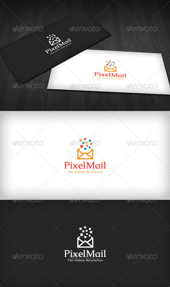 GraphicRiver Pixel Mail Logo 3310533