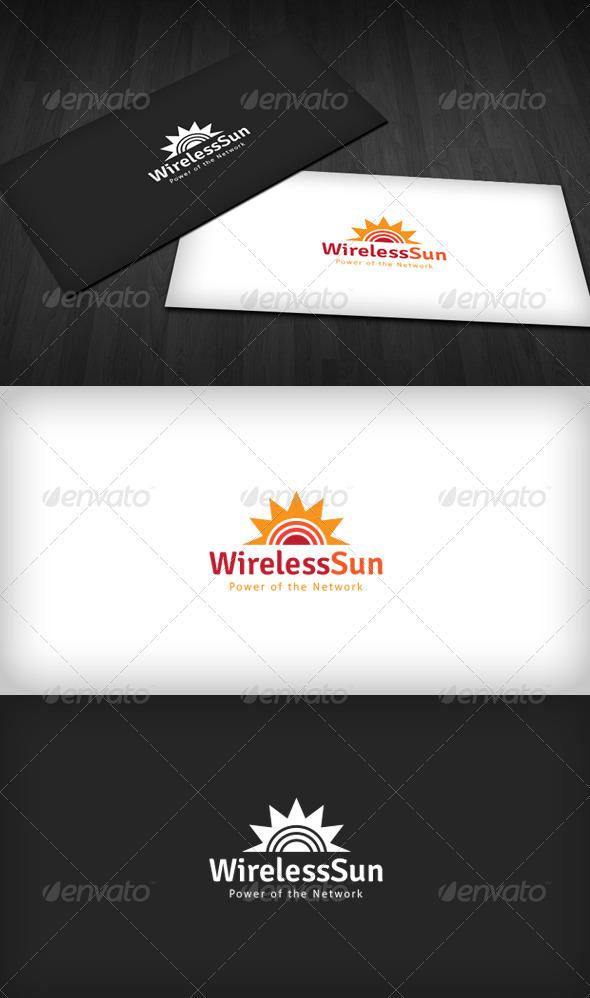 GraphicRiver Wireless Sun Logo 3310587