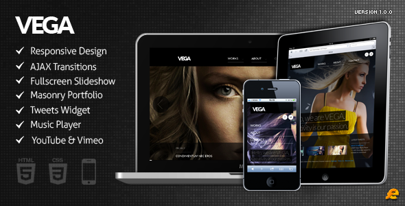 VEGA - WordPress Responsive Theme - Portfolio Creative