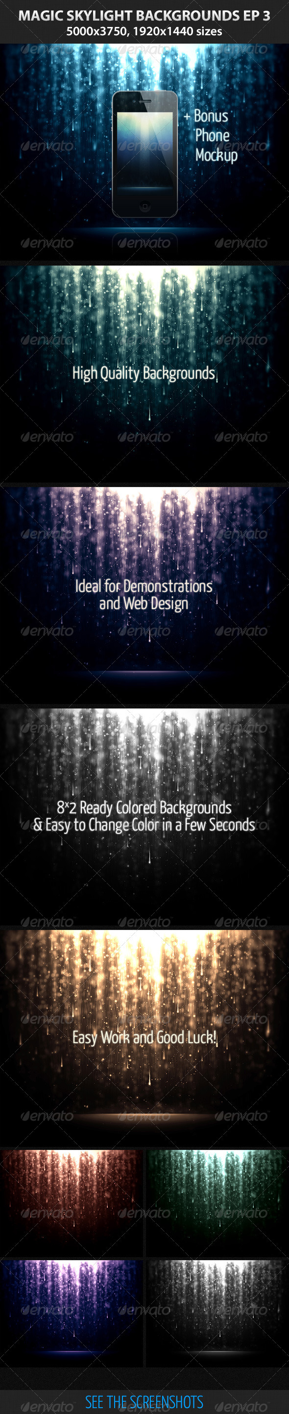 GraphicRiver Magic Skylight Backgrounds EP 3 3310877