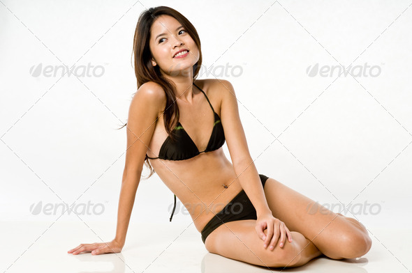 Asian Woman In Bikini - Stock Photo - Images