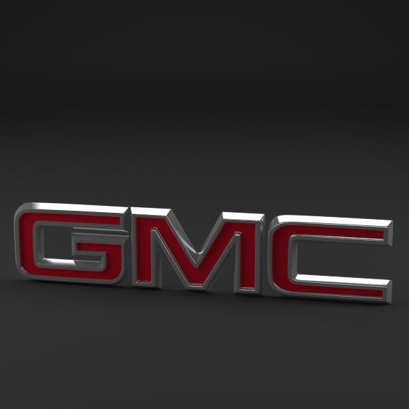 GMC Logo - 3DOcean Item for Sale