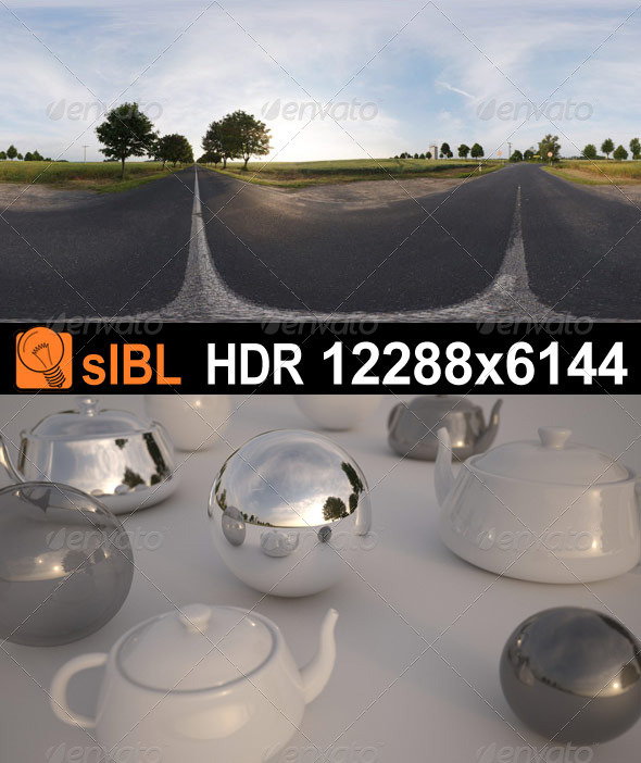 HDR 070 Road Sunrise sIBL - 3DOcean Item for Sale