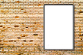 3d Blank advertising billboard on brick wall - PhotoDune Item for Sale