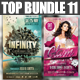 Top Party Flyer Bundle Vol11 - GraphicRiver Item for Sale
