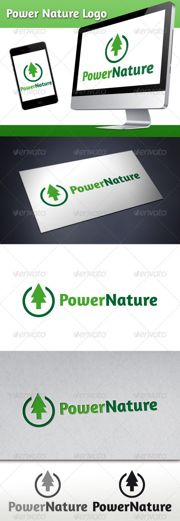 GraphicRiver Power Nature Logo 3293494