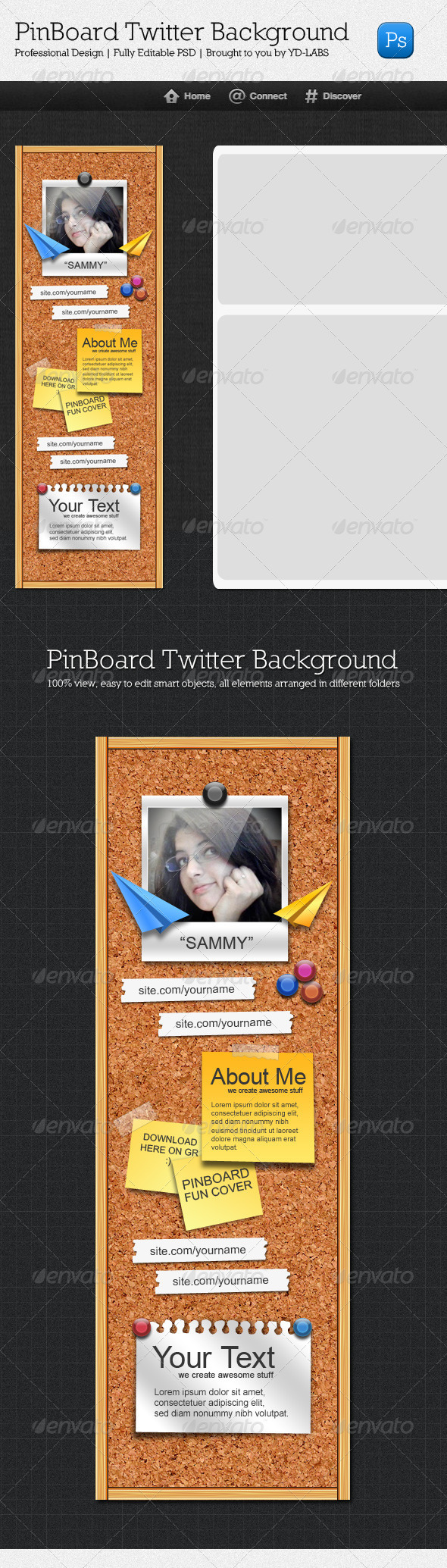 GraphicRiver Twitter Pinboard 3313582