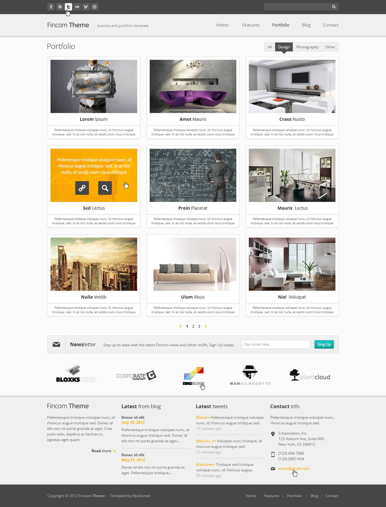 Fincom – Business PSD Template