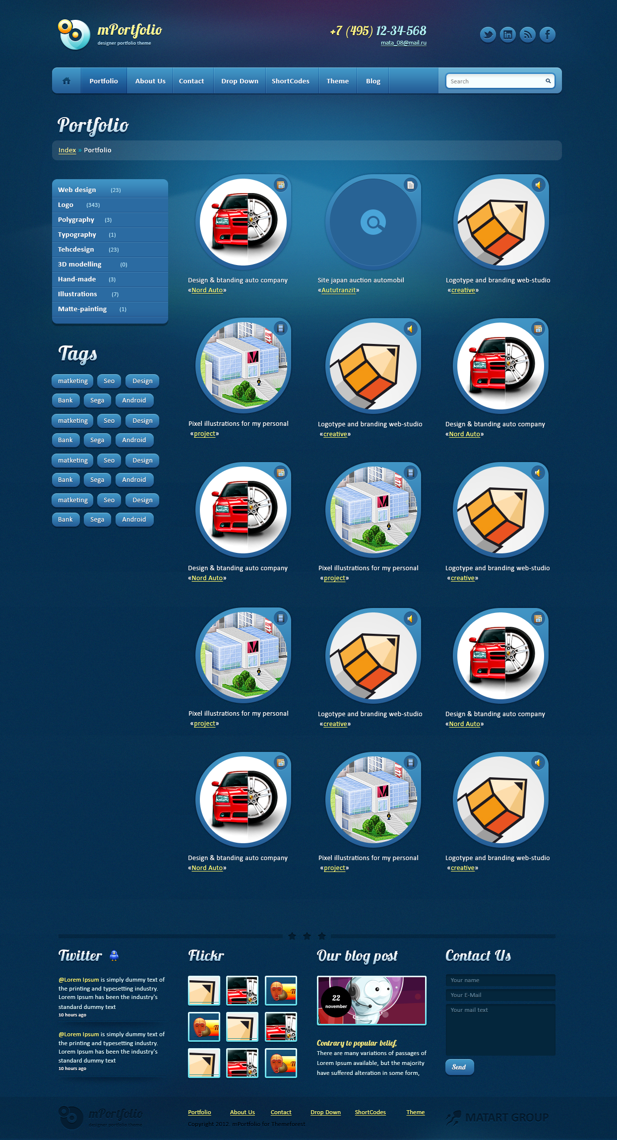 mPortfolio HTML