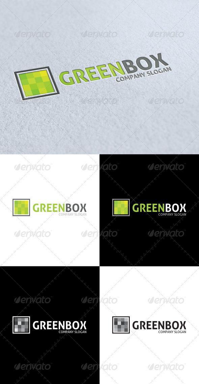 GraphicRiver Green Box Logo 3314686