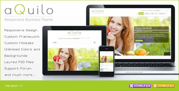 ThemeForest Aquilo Responsive Joomla Theme CMS Themes Joomla 3269791
