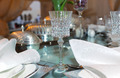 Glass on the table decorated for an event - PhotoDune Item for Sale