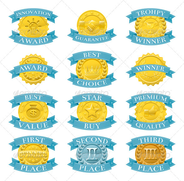 GraphicRiver Award Medals or Badges 3295554