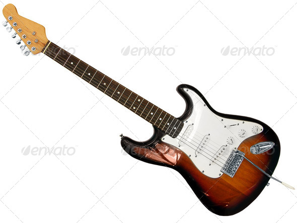 guitar isolated - Stock Photo - Images