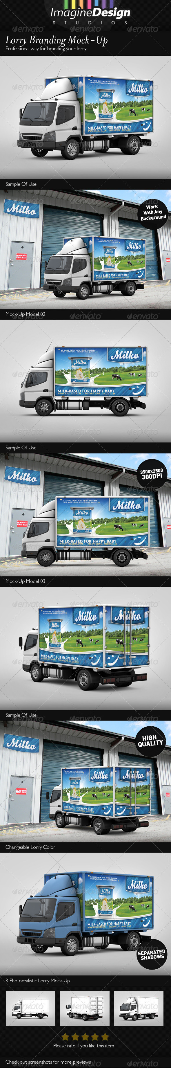 GraphicRiver Lorry Branding Mock-Up 3315350
