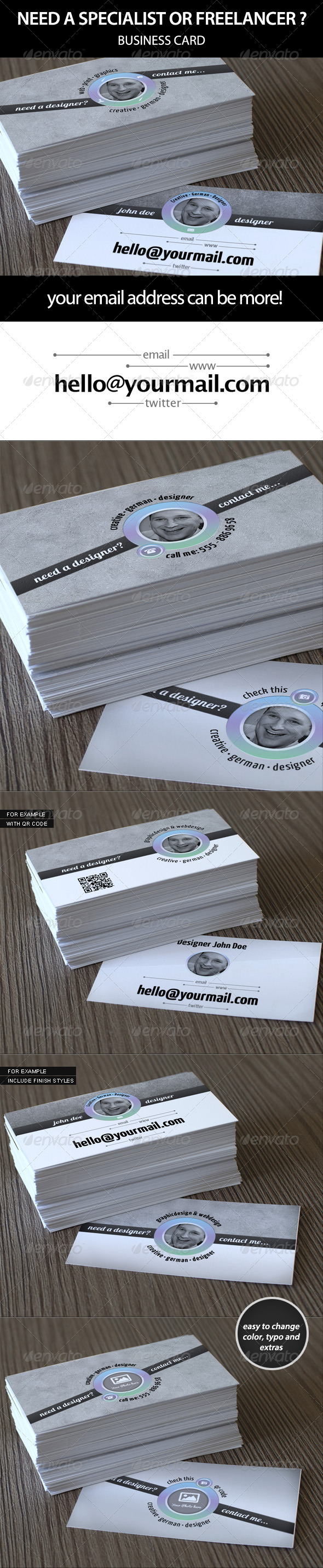 GraphicRiver Business Card Need a Specialist or Freelancer 3284822