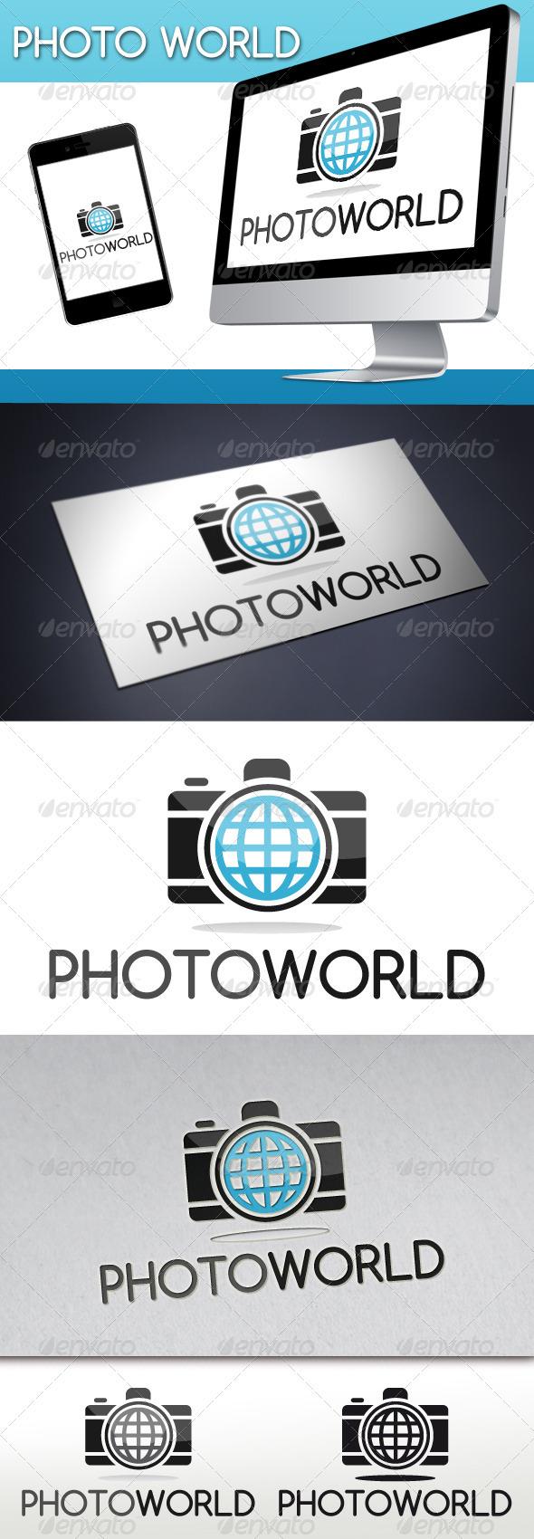 GraphicRiver Photo World Logo 3315594