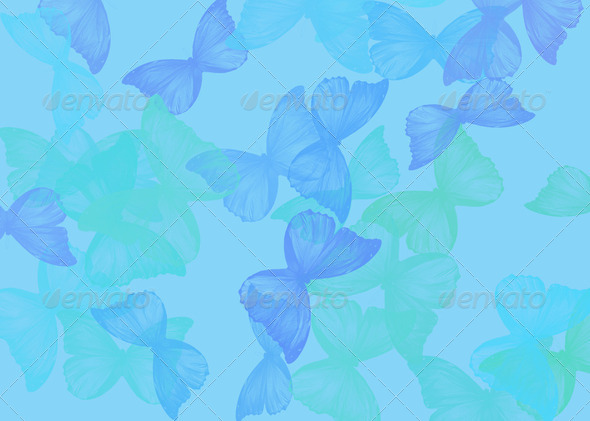 background  with butterfly  as frame border - Stock Photo - Images