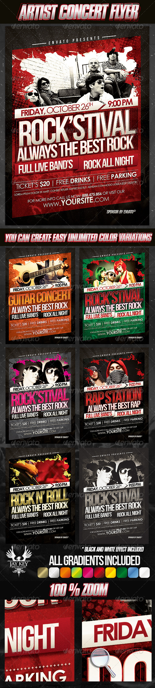 GraphicRiver Artist Concert Flyer Template 3291569