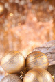 Gold christmas baubles - PhotoDune Item for Sale