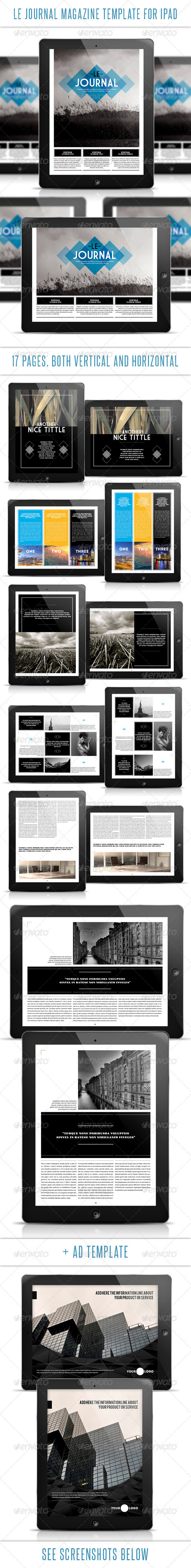 GraphicRiver Le Journal Tablet Magazine Template 3316569