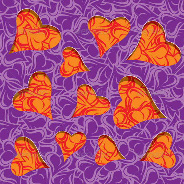 Purple Leave Cut Out of Paper  - Abstract Textures / Fills / Patterns