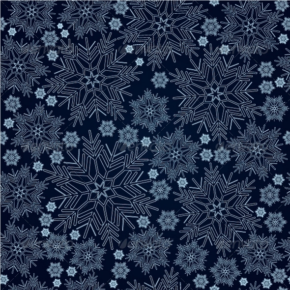GraphicRiver Snowflake Seamless Pattern 3316610