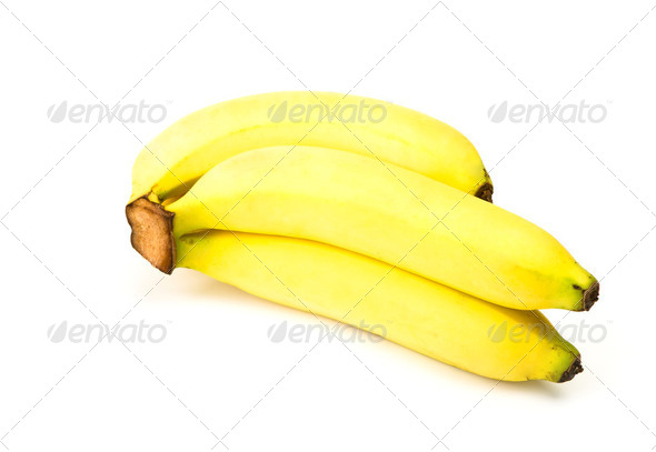 Bunch of bananas isolated on white background - Stock Photo - Images