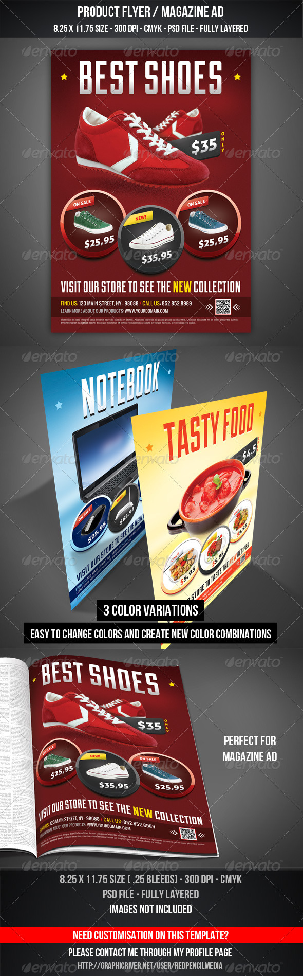 GraphicRiver Product Flyer Magazine AD 3316752
