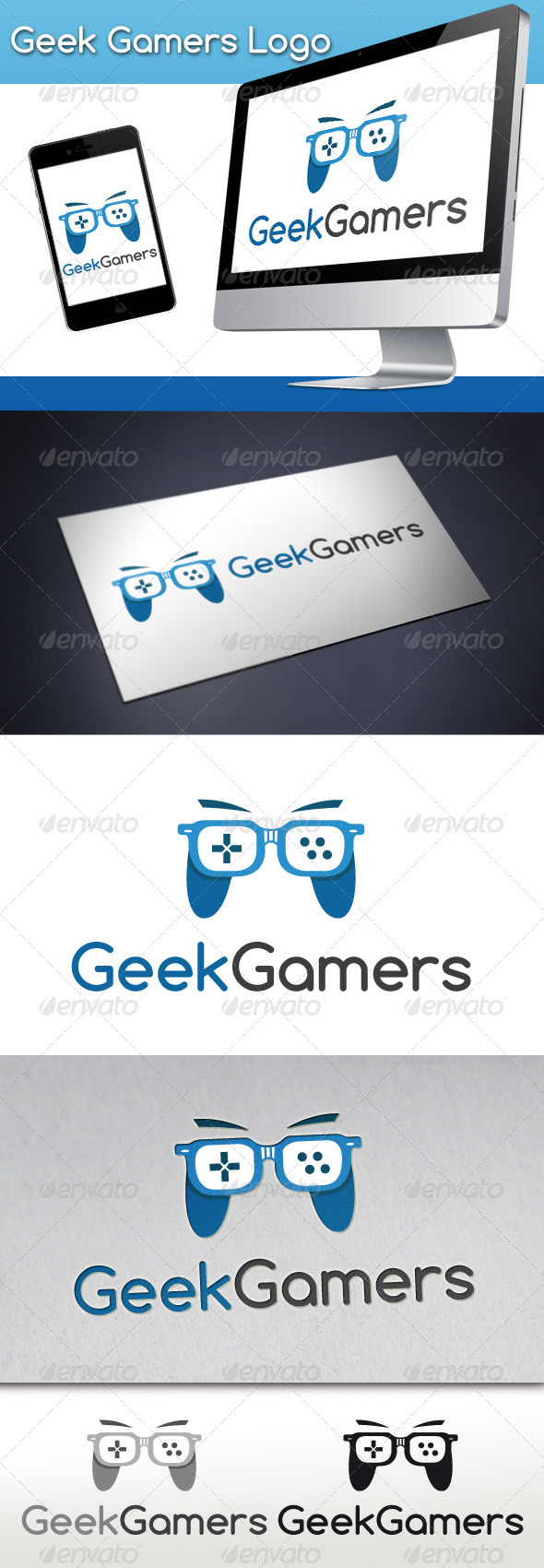 GraphicRiver Geek Gamers Logo 3316753